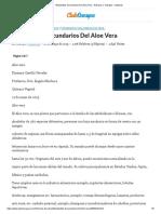 Metabolitos Secundarios Del Aloe Vera