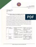 Letter to V-C on DU Eligibility Criteria