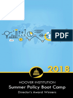 Hoover Institution 2019 Summer Policy Boot Camp Director's Award