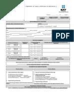 Formato e Instructivo pedimento