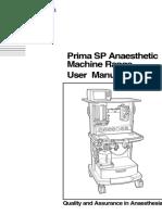 Penlon Prima SP Anaesthesia Machine - User Manual