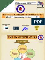 Presentacion PNF Geociencias