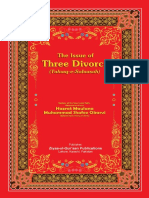 The Issue of Three Divorce (Talaaq e Salaasah)