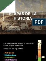 Linea de Tiempo de Las Etapas de La Historia