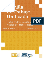 Planilla de Trabajo Unificada Manual 1.0