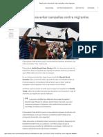AMLO Pide a Mexicanos Evitar Campañas Contra Migrantes