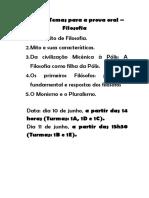 Lista de Temas para a prova oral 1 serie.docx