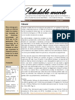 Boletín de la mesa de salud mental N°6. vol2. FNSP Universidad de Antioquia