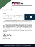 Britton Debate Letter