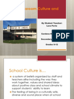 student teaching culture