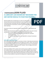 Need to Know Transmission Fluid