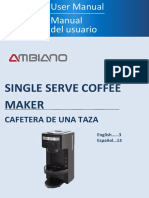 Ambiano Single Serve Coffee Maker