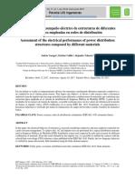 Evaluación del desempeño eléctrico de estructuras de diferentes materiales empleadas en redes de distribución