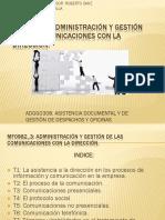 ASISTENCIA A LA DIRECCIÓN MF0982