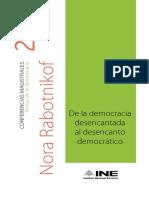 De la Democracia  Desencantada al desencanto democrático