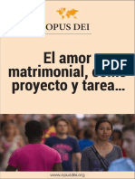 El Amor Matrimonial Como Proyecto y Tarea Comun
