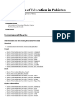 List of Boards of Education in Pakistan - Wikipedia.pdf