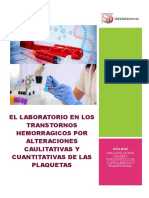 EL LABORATORIO EN LOS TRANSTORNOS HEMORRAGICOS POR ALTERACIONES CAULITATIVAS Y CUANTITATIVAS DE LAS PLAQUETAS.docx