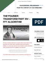 The Fourier Transform Part XIV – FFT Algorithm