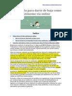 Baja Autónomo Online