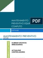 Mantenimiento Preventivo Equipo de Computo