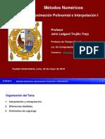 Aproximación Polinomial e Interpolación I -MN FISI-UNMSM 2019-I - Copia