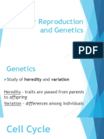 Cellular Reproduction and Genetics