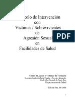Protocolo de intervención con victimas y sobrevivientes de agresión sexual en facilidades de salud