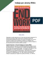 El Fin Del Trabajo Por Jeremy Rifkin - 5 Estrellas Reseña Del Libro