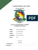 Evolución Histórica Sobre El Derecho Penal Monografia