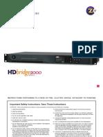 HDB 2312 Manual
