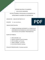 Aproximación en Promedio de Una Función Dada Con Ayuda de Un Polinomio Trigonométrico. AM3
