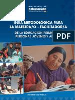 Guia Metodologica de Educacion Primaria de Personas Jovenes y Adultas Web