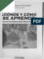 00346 Inglés Psicología Educacional Kawaguchi Zimmeman M. Las Teorias Psicológicas y El Campo Educativo