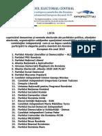 Lista Semne Electorale Monitorul Oficial