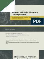 Presentación Métodos y Modelos Educativos Contemporáneos