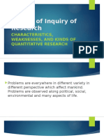 1. Nature of Inquiry of Research