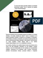Cambio Climatico, Efecto Invernadero y El Calentamiento Global