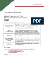 PLSQL 7 2 Practice