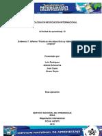Evidencia 7 Informe Practicas de Cultura Fisica y Habitos Del Cuidado Corporal Lis