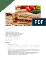 Meaty Clubhouse sandwich
