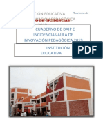 Cuaderno de Incidencias 2019