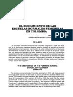 Nacimiento de las escuelas femeninas en colombia