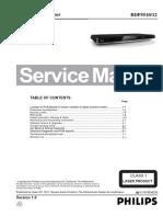 Manual de Serviço Philips Bdp5510