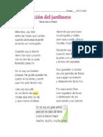 Poema La Canción Del Jardinero