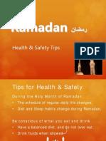 Ramadan Health Safety