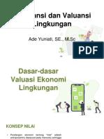 Dasar-dasar Valuasi Ekonomi Lingkungan