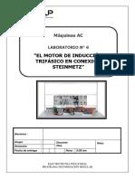 EL MOTOR DE INDUCCIÓN TRIFÁSICO EN CONEXIÓN STEINMETZ