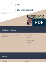 exchange rates the us dollar vs the british pound