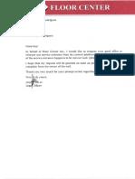 Floor Center Request Letter